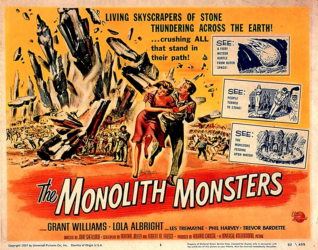The Monolith Monsters (1957): I paced around the room excitedly while this one lit up the TV screen.
