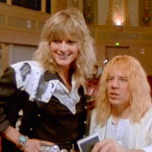 June Chadwick, with Michael McKean, in This Is Spinal Tap (1984). We see a lot more of her in Fobidden World!