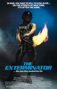Poster forThe Exterminator(1980) by James Glickenhaus who later madeThe Protector(1985).
